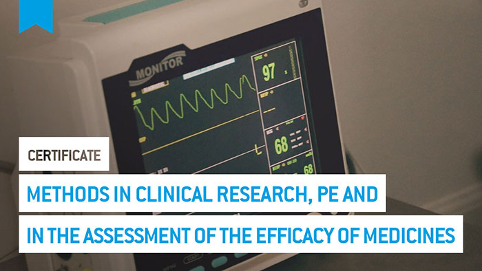 Eu2P Certificate: Methods in clinical research, pharmacoepidemiology and in the assessment of the efficacy of medicines
