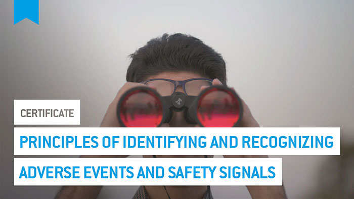 Eu2P Certificate: Principles of identifying and recognizing adverse events and safety signals