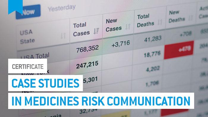 Eu2P Certificate: Case studies in medicines risk communication