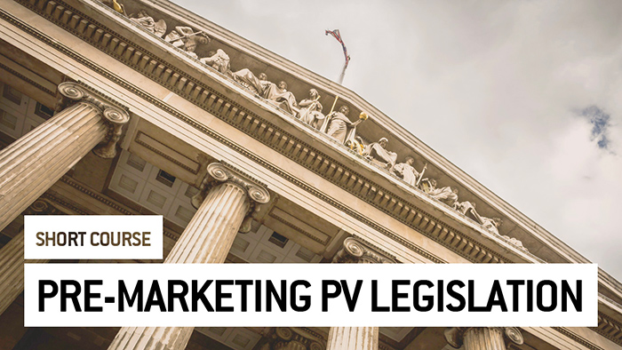 Eu2P Short Course: Pre-Marketing Pharmacovigilance Legislation