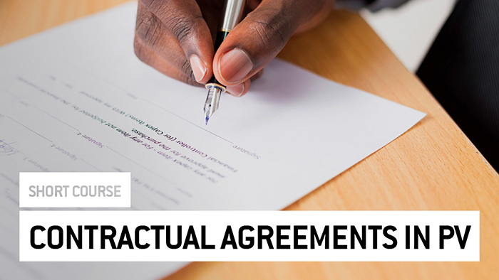 Eu2P Short Course: Contractual Agreements in PV