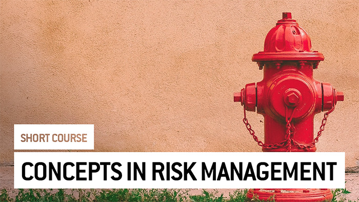 Eu2P Short Course: Concepts in risk management