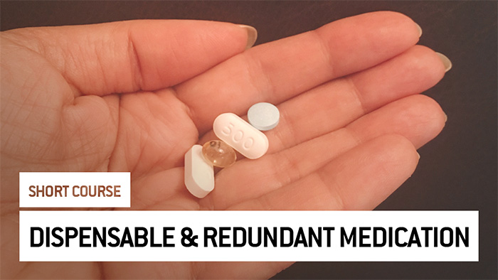 Eu2P Short Course: Identification of dispensable and redundant medication in the population